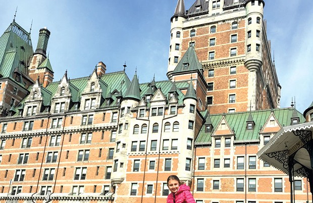 Mira in front of the Frontenac