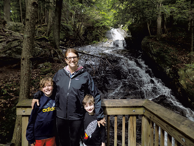 Felix, Shannon and Leo at Thundering Falls - BENJAMIN ROESCH