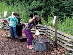 """The """"wash day"""" station at the Adirondack Museum"""