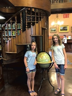 Gabriela and Lucia in front of the spiral staircase - MOLLY STANCIU