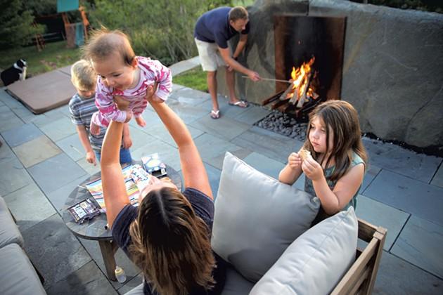 Erik and Jennifer Karpinski with their children, Dylan, 8; Morgan, 6; and Kassidy, 3 months - MATTHEW THORSEN