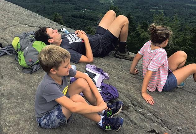 On top of Stowe Pinnacle - ALISON NOVAK