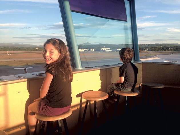 Manya and Ezra taking in the view from the observation deck. - KEN PICARD