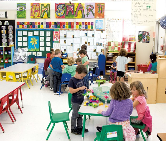 Maggie Plante's kindergarten classroom at Burlington's Integrated Arts Academy at H.O. Wheeler - SAM SIMON
