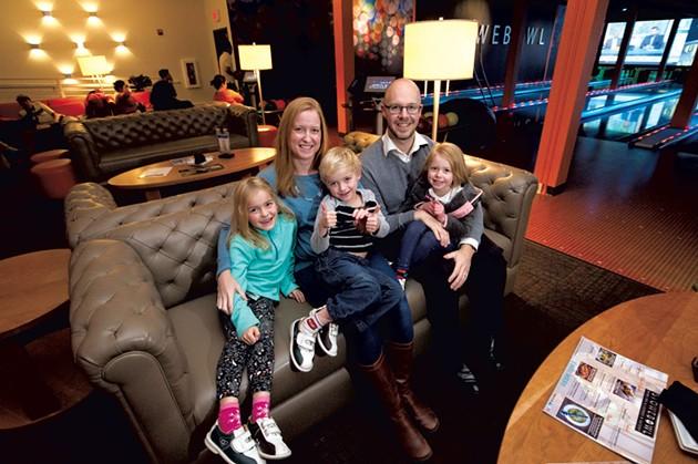 Mom: Rachel van den Berg, 36 - Dad: Mark van den Berg, 35 - Owners/managers, Sun & Ski Inn and Suites, Stowe Golf Park and Stowe Bowl - Kids: Noah and Evangeline, 6; Reagan, 3 - JEB WALLACE-BRODEUR