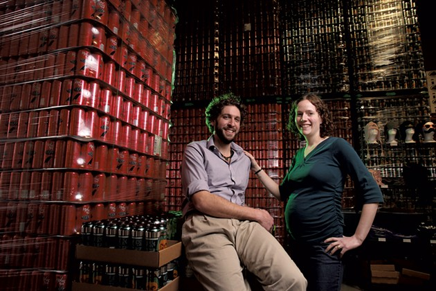Ricky and Kelly Klein of Groennfell Meadery - MATTHEW THORSEN
