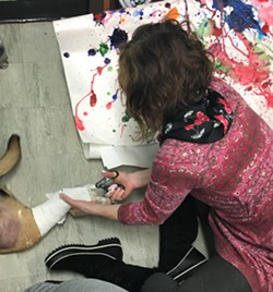 Teacher Courtney Record cuts off Austin's cast - SADIE WILLIAMS