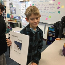 Third-grade writer Harper - SARAH TUFF DUNN
