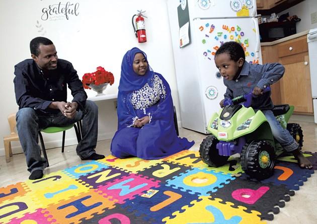 Dad: Murjan Kassim Amir, 26, Macy's and Howard Center employee - Mom: Fardowsa Abdullahi Ibrahim, 21, full-time University of Vermont student - Son: Hamza, 2 - MATTHEW THORSEN