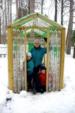 Elaine Coeyman with grandchildren Mila and Leo