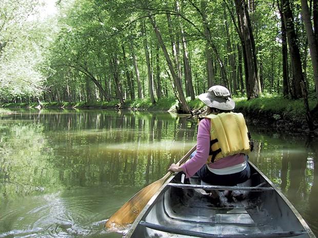 Exploring the LaPlatte River - COURTESY OF SARAH TUFF DUNN