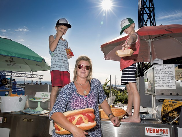 Mom: Jamie Wilhite, 41, owner of Relish gourmet hot dog cart - Sons: Jameson, 7, and Clayton, 6 - JAMES BUCK