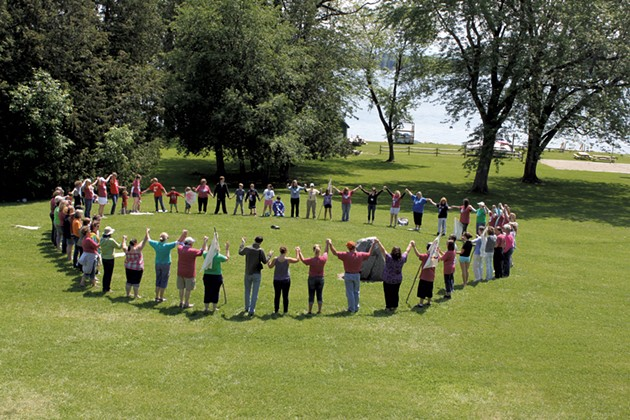 Camp Knock Knock's closing circle - COURTESY OF THE VNA OF CHITTENDEN AND GRAND ISLE COUNTIES