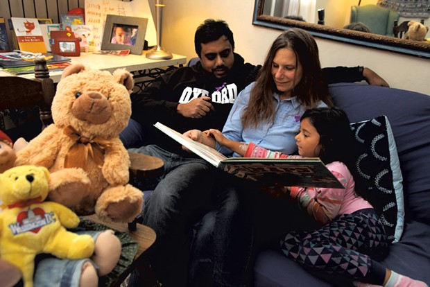 Dad: Pablo Bose, 45, associate professor of geography and director of global and regional studies, University of Vermont - Mom: Alisha Laramee, 43, program specialist, New Farms for New Americans with the Association of Africans Living in Vermont - Daughter: Lily, 5 - MATTHEW THORSEN