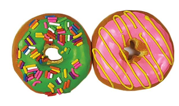 """Detail of """"Boxed Donuts"""" by Peter Anton - COURTESY OF SHELBURNE MUSEUM"""
