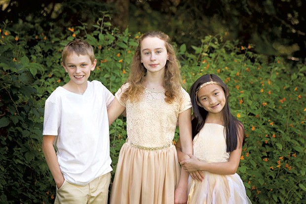 Kerris Manosh (right) with siblings Garrett and Sophie - COURTESY OF DR. LAUB