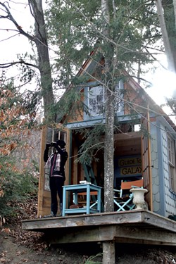 Gabriela Stanciu explores from the treehouse - MOLLY STANCIU
