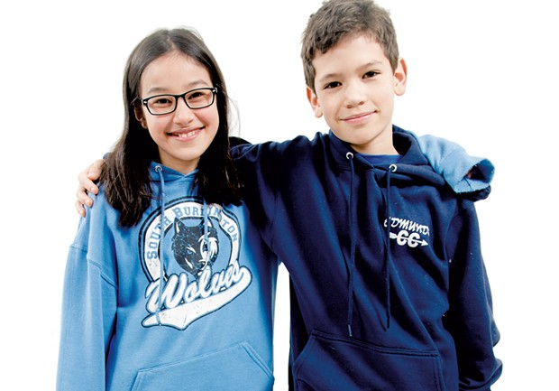 Lili, 11, South Burlington, and Quinn, 11, Burlington - SAM SIMON
