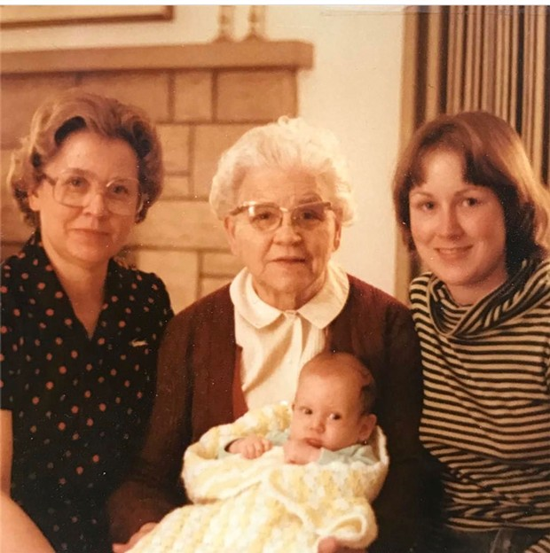 Baby Alison with her mom, grandma and great-grandma - COURTESY OF ALISON NOVAK