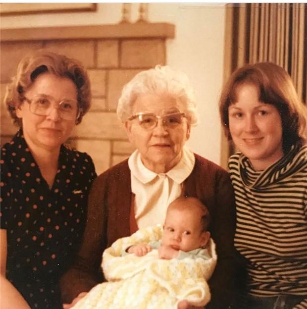 Baby Alison with her mom, grandma and great-grandma - COURTESY OF ALISON NOVAK