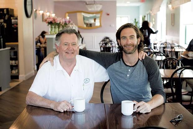 Chef Jozef Harrewyn with son Brent