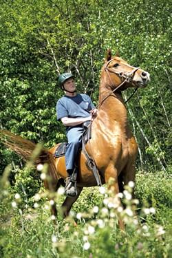 James Messier on his riding horse - TIM SANTIMORE