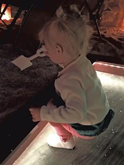 Virginia in the salt cave - KRISTEN RAVIN