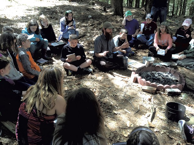 Nick Neddo instructing a group of students - COURTESY OF NICK NEDDO