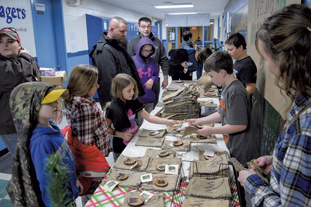 St. Albans students selling their products at last year's school mall
