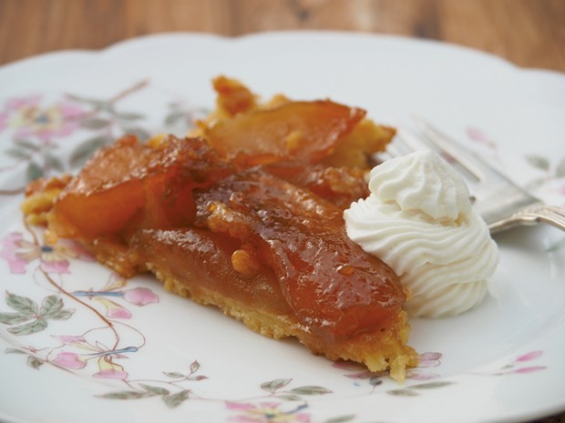 Tarte tatin with maple whipped cream - ANDY BRUMBAUGH