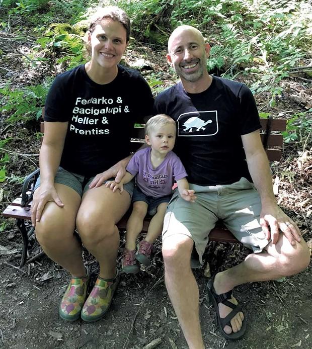 Sarah and Sean Prentiss with daughter Winter - BRETT STANCIU