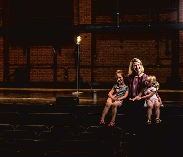 Anna Marie Gewirtz, 40, executive director of the Flynn Center for the Performing Arts, with daughters Autumn, 5, and Julianna, 3 - SAM SIMON