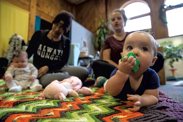 Women and babies at Turning Point's New Moms in Recovery group - JAMES BUCK