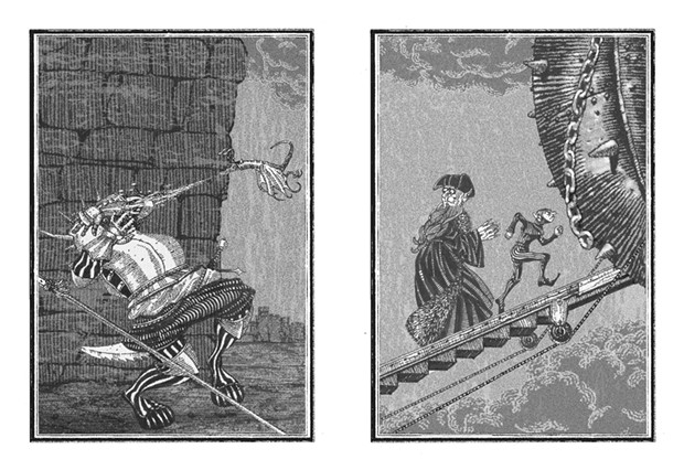 Illustrations from The Assassination of Brangwain Spurge by Eugene Yelchin