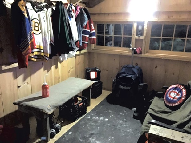 Inside the warming hut - COURTESY OF PATTY KELLY