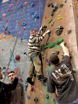 Colin climbs at Petra Cliffs - COURTESY OF DEBBIE LAMDEN