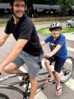 Tandem biking - COURTESY OF DEBBIE LAMDEN