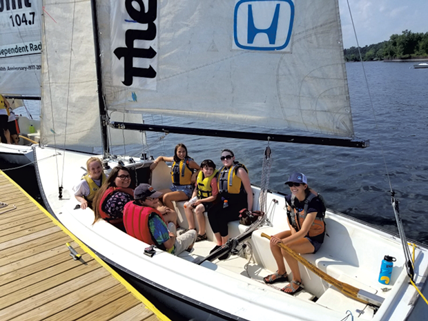 Boating at the Community Sailing Center - with Vermont Adaptive Ski & Sports - COURTESY OF DEBBIE LAMDEN