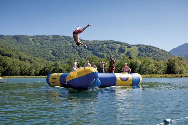 Smugglers' Notch Resort floating trampoline - COURTESY SMUGGLERS' NOTCH RESORT