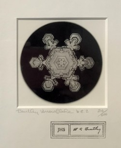 Photograph of a snowflake by Snowflake Bentley - COURTESY