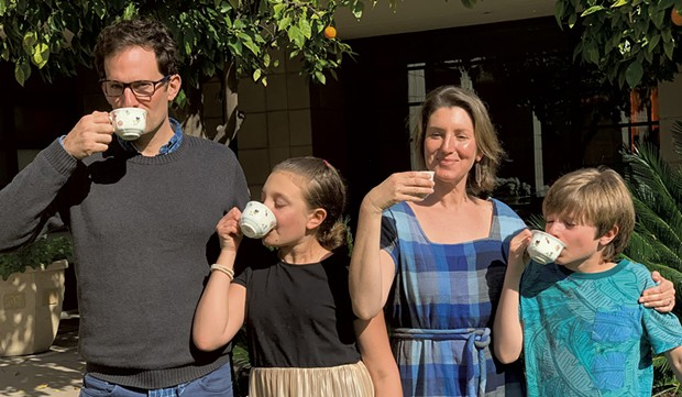 The Novak family enjoys tea together in Phoenix, AZ in March 2019 - COURTESY OF ALISON NOVAK