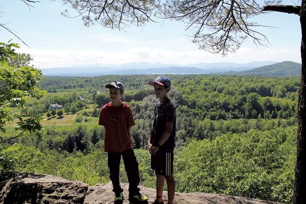 Taking a break at a ridgetop overlook - HEATHER FITZGERALD