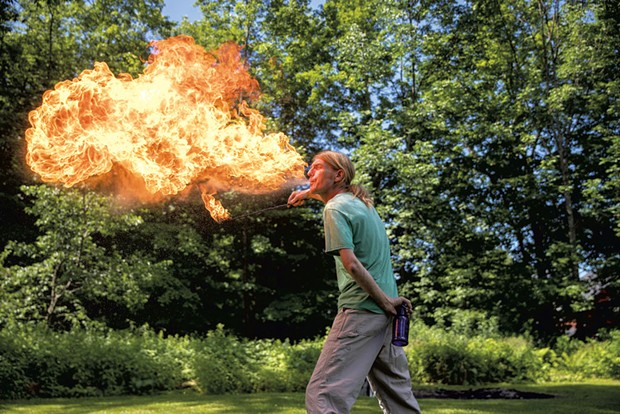 Chris Cleary breathes fire - JAMES BUCK