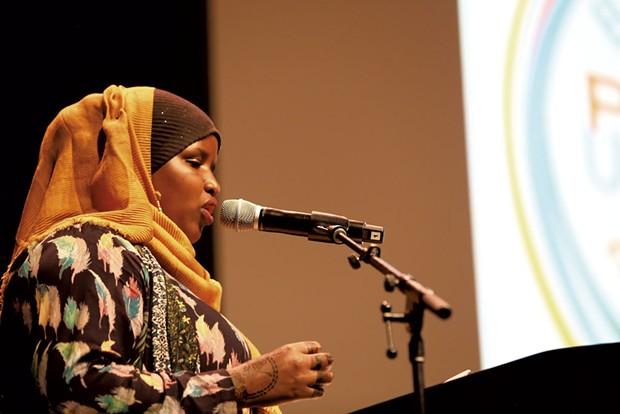 Parent speaker Ishno Ibrahim - COURTESY OF BURLINGTON SCHOOL DISTRICT