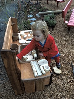 The mud kitchen - COURTESY OF BONNIE KIRN DONAHUE