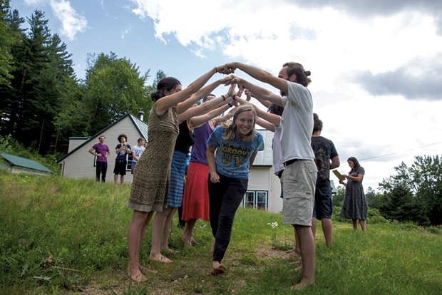 Marlie Hunt, 17, taking part in the re-entry ceremony on the final day of ReTribe's Inner Journeys retreat - JAMES BUCK