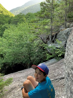 Heather's son, Jesse, taking a break while hiking the Smugglers' Cave loop - HEATHER FITZGERALD