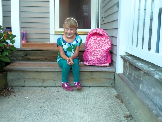 Alison's daughter, Mira, on her first day of kindergarten in 2012. - ALISON NOVAK