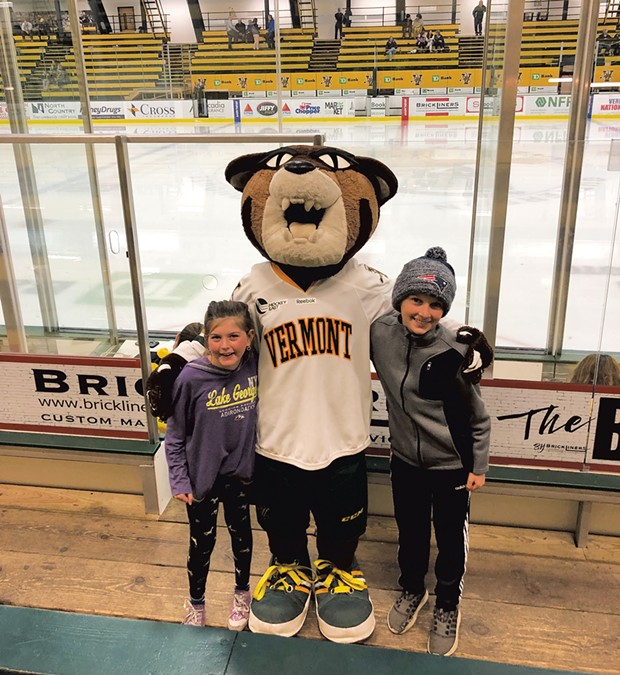 Heather's son, Henry, and his friend Sydney meet Rally Cat - HEATHER POLIFKA-RIVAS
