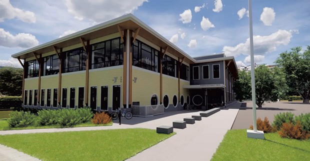 A rendering of the new YMCA at 298 College Street in Burlington - COURTESY OF GBYMCA